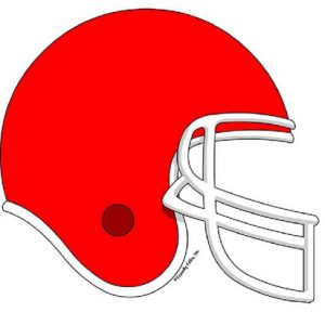856-FF Football Helmet, Red