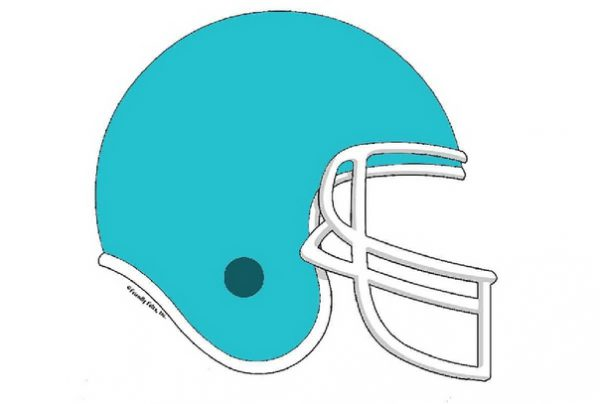 857-FF Football Helmet, Teal
