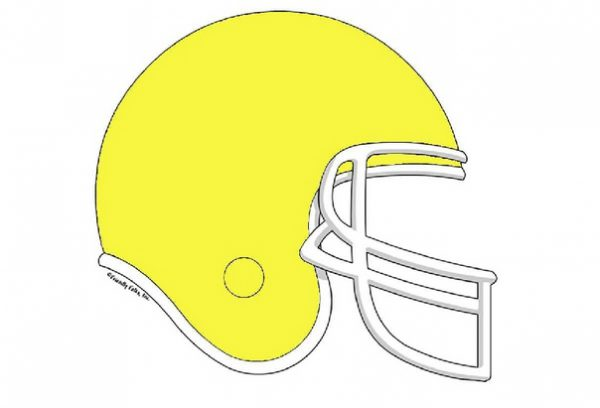 858-FF Football Helmet, Yellow