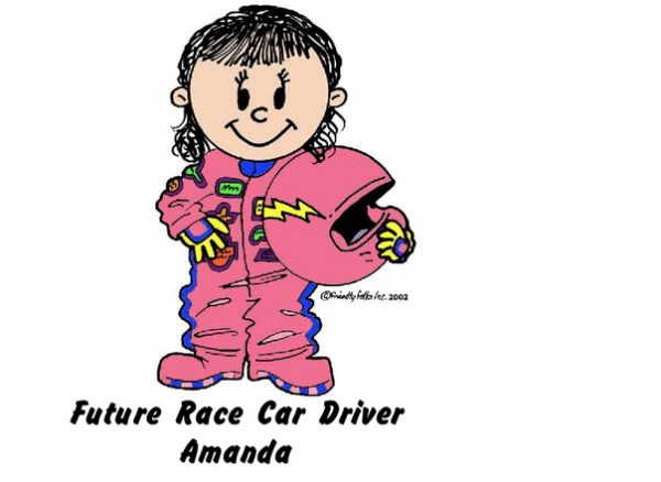 964-FF Future Race Car Driver, Female, Pink