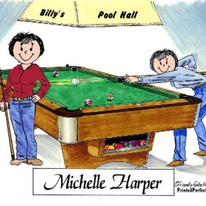 477-FF Billiards, Pool Player, Female & Female