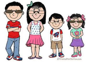 Friendly Folks Children with Glasses Clipart