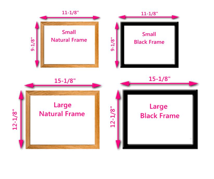 Frame Measurements & Colors