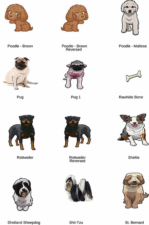 Dog clip art that can be added